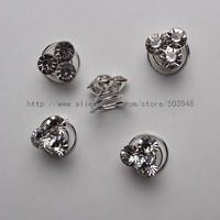 (120 Pcs) Sparkly Crystal Butterfly Spiral Twist Hair Pin Bridal Wedding Hair Accessory