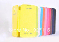 Original Back cover flip leather case battery housing case for Samsung Galaxy S3 i9300 SIII +retail box free shipping +1pcs film