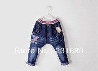 Children jeans/haroun pants/panty/child stars and stripes jeans 5pcs/lot  Free shipping