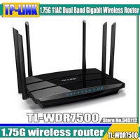 free shipping for TP-LINK 1.75G 11AC Dual Band Gigabit Wireless Router TL-WDR7500  6 Antenna  2 USB