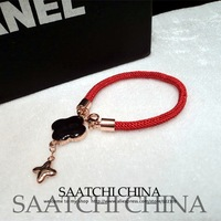 Enamel leaf clover Phnom Penh big fashion delicate lucky red string bracelet