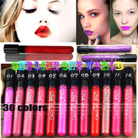 2pcs/lot Matte lipstick 36 colors velvet room lip gloss long lasting waterproof high quality make up beautiful free shipping