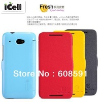 Original Nillkin Fresh Series flip Leather Case For HTC Desire 601(619D)  , MOQ:1PCS free shipping