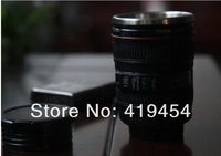 By DHL Free Shipping New Mini wine glass/ Drinking lens cup spirit mug stainless steel liner travel thermal camera lens mug cup