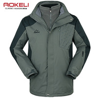Outdoor men's clothing male twinset outdoor jacket autumn and winter windproof thermal three-in outerwear