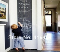 Home Stick Blackboard Wall Sticker Chalkboard Decal Peel & Stick on wall paper Black color(Size:45x200cm)