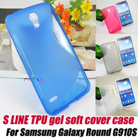 10pcs/lot.S Line TPU Gel skin soft Case Cover for samsung GALAXY Round G910 G910S,Free Shipping