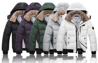 Men's Fur collar Cotton Padded Winter Coat Fashion Parka Overcoat jacket 5 COLOR