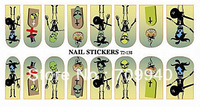 New Arrival !! Free shipping Full halloween nail art sticker water decals 16wraps/sheet , 15 sheets/lot Item No. T2-138