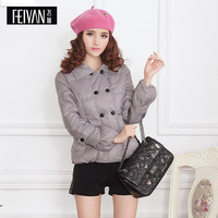 Feiyan 2013 winter double breasted short fashion design down coat female 18291001