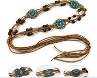 Free shipping(minimum order is $15) New arrival classic joker women vintage handmade knitted belt