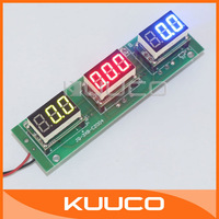 "5 PCS/LOT DC 12V/24V Multifunction Measure Panel Meter 0.36"" LED Digital Voltmeter Ammeter Power Meter #100198"