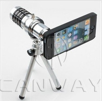 Free shipping For iPhone 5 5G 4s 4 4g lens 12x optical telescope lens, camera for iPhone photographic camera lens. tripod+box