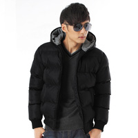 Male thickening cotton-padded down jacket Men cotton clothes 2013 winter outerwear male jacket casual men's Parkas XXL XXXL V12