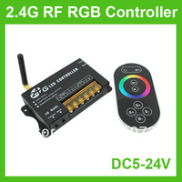 5PCS/LOT DC5V - 24V Touch Screen Wireless 2.4G RF LED RGB  Controller For Strip Light