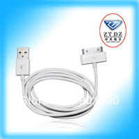 Free Shipping!!! data cable for iphone 4 in white