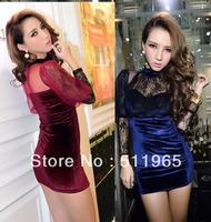 2014 Free Shipping New Sexy Club Woman Clothing Lace Dress Mini Sheath Hip For Women Lady Girls Party 1pcs Retail