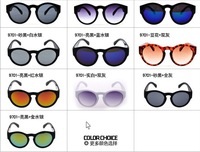 2014 Hot Brand Promotional Classics Women And Men's Sunglasses Round Sunglasses Mirror Lens UV400 Wholesale Discount Sun Glasses