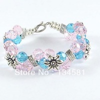 Crystal Beads Bracelets With Charms  Jewelry For Women Cheap Price Wholesale Free Shipping bd0028