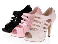 Free shipping! fashion ladies' open toe cutouts zipper platform high heel shoes sandals single shoes size 35-43,GS_A1348