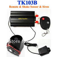Quad band Real-time GPS GSM GPRS Car Tracker Tracking Device Auto Vehicle TK103B Alarm System Remote & Shake Sensor & Siren