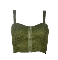 Fashion lace belt pad zipper spaghetti strap vest high waist corset bra