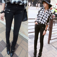 2013 autumn women's all-match slim pencil pants 100% cotton mid waist skinny casual pants