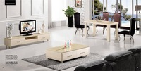 Dinning Table, Coffee Table,TV Cabinet Wood Furniture Set,3 piece, Piano Painted Wood Living Room Furniture Set YQ110