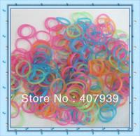 Free ship DHL GLOW 300pcs  loom bands hottest colorful  loom kits rubber bands loom kit DIY bracelets Christmas gift present