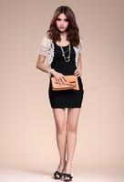 2013 Summer Women's Short-sleeve Cape Short Crochet Hollow Out Sweater Lace Cardigan~wbgh112202