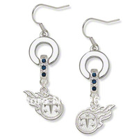 Free shipping Classic tennessee titans MVP crystal earrings 20 pairs a lot