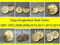 Clearance Sales Free shipping 550pcs/lot difference year of 1 oz South Africa krugerrand 24k Gold plated coins