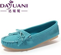 2014 women's tassel flat shoes,ladys genuine leather casual single shoes,Pregnant women shoes