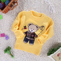 2012 winter child sweater male female child baby o-neck pullover sweater buckle sweater