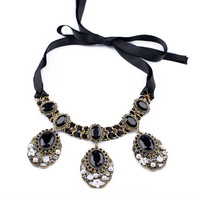 Fashion fashion accessories vintage ribbon adjustable long design sweater necklace