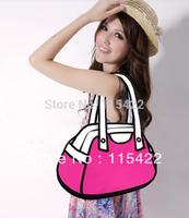 factory wholesale women 2d 3d cartoon shoulder bag 100% canvas gismo handbag free shipping