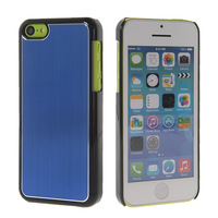 BRUSHED METAL ALUMINUM CHROME CASE COVER FOR APPLE IPHONE 5C