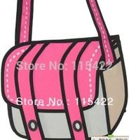 100% canvas women and men gismo cartoon messenger bag 2d 3d shoulder bag drop shipping