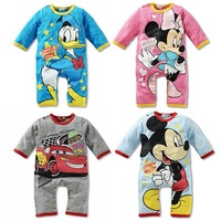 Baby Romper! Baby spell color long-sleeved cotton Climbing clothes,fashion printed Romper  GTJ-L0032