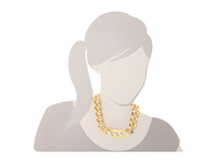 fashion jewelry accessories glass stone thick gold chunky chain necklace