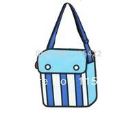 new designed 2d 3d cartoon bag for men striped gismo cartoon messenger bag drop shipping