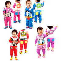 Popular baby cartoon romper/4 designs baby long-sleeved jumpsuit/2014 new arrival