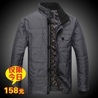 Winter thickening SEPTWOLVES cotton-padded jacket medium-long male business casual wadded jacket men's clothing outerwear