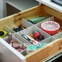 Free Shipping 6Pcs Plastic DIY Grid Drawer Divider Household Necessities Storage Organizer  Drawer separators clapboard