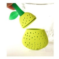 Free Shipping Adorable Pear Silicon Tea Leaf Filter Strainer Herbal