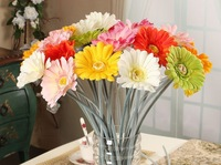 Free shipping Rustic furnishings floor artificial flowers silk flower decoration flower single gerbera