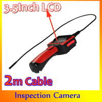 Hot Sale borescope 9MM Inspection Endoscope Camera 3.5Inch LCD Detachable Monitor 6LED Snake Camera 2M Cable HK Post Free Ship