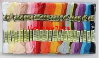 Free Shipping 447PCS sewing thread cotton similar dmc thread floss skein cross stitch thread 447PCS/lot,CXC embroidery thread