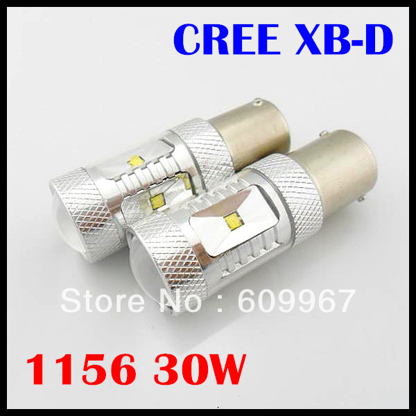 FREE SHIPPING 2pcs/lot 1156 Car LED S25 BA15S 6*5W CREE LED Reverse Light, BA15S CREE Back Lamp, 1156 30W high power CREE LED(China (Mainland))