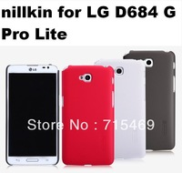 60pcs Nillkin case for  LG  G Pro Lite ( D680 D684 ) Frosted shield case with Screen protector +Retail Box  , free shipping